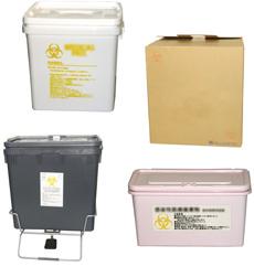 医療廃棄物処理容器のイメージ